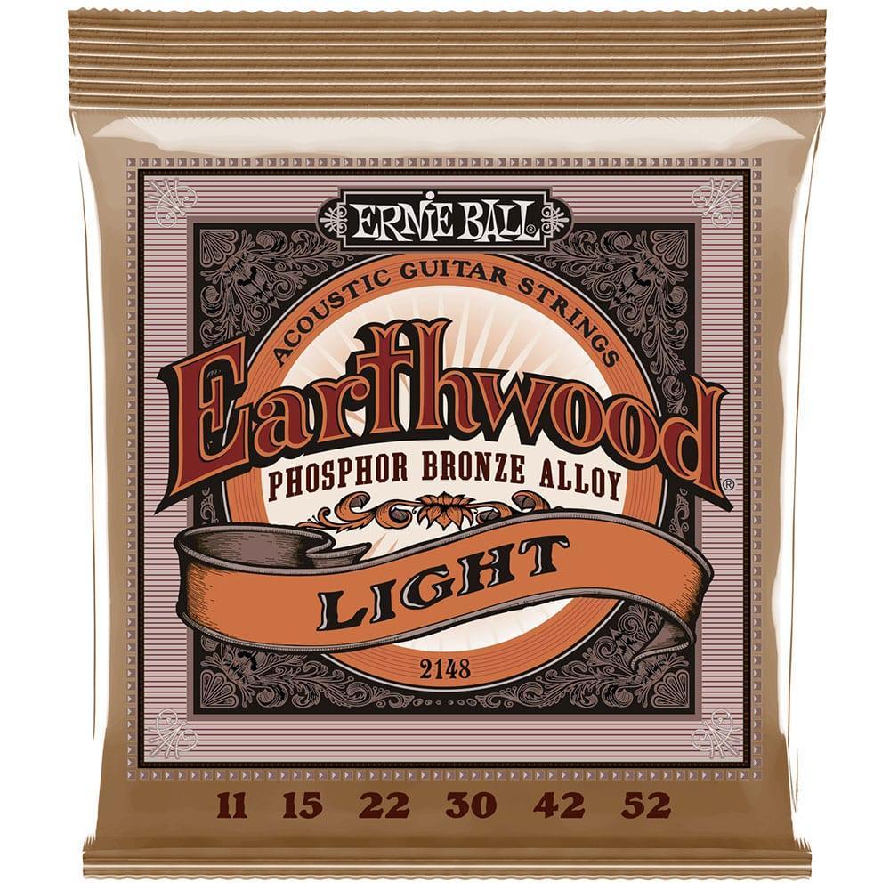Ernie Ball 2148 Earthwood Phosphor Bronze Acoustic 11-52-0