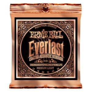 Ernie Ball 2546 Everlast Coated Phosphor Bronze Acoustic 12-54-0