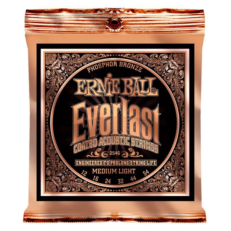 Ernie Ball 2546 Everlast Coated Phosphor Bronze Acoustic 12-54-0
