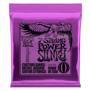 Ernie Ball 2620 7-String Power Slinky Electric 11-58-0