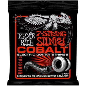 Ernie Ball 2730 Cobalt 7-String Skinny Top Heavy Bottom Slinky Electric 10-62-0