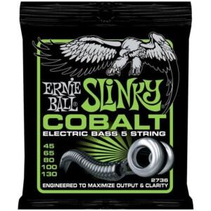 Ernie Ball 2736 Cobalt Slinky 5-String Bass 45-130-0