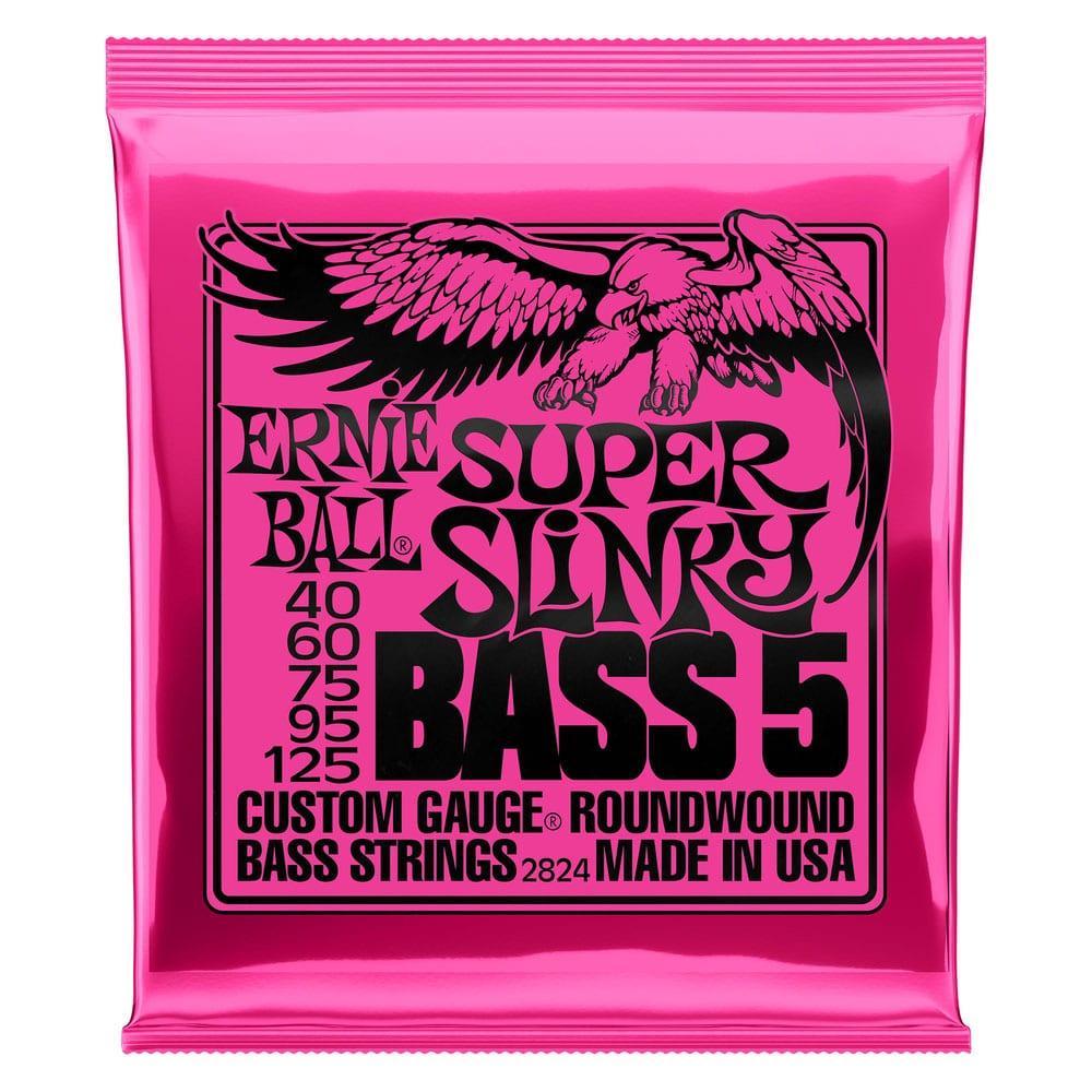 Ernie Ball 2824 Super Slinky Nickel Wound 5-String Bass 40-125-0