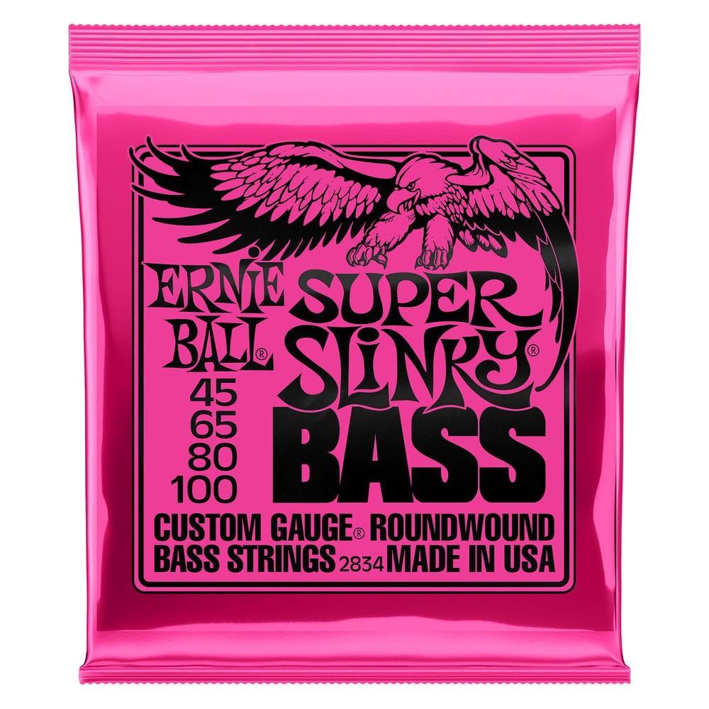 Ernie Ball 2834 Super Slinky Nickel Wound Bass 45-100-0