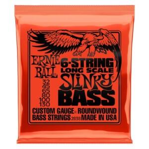 Ernie Ball 2838 Slinky Nickel Wound 6-String Long Scale Bass 32-130-0