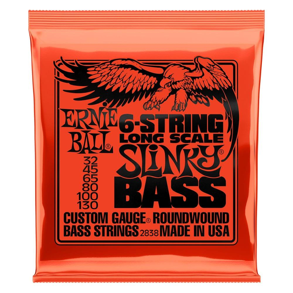 Ernie Ball 2838 Slinky Nickel Wound 6-String Long Scale Bass 32-130-0