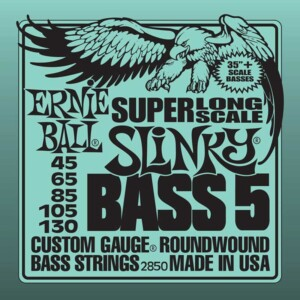 Ernie Ball 2850 Slinky Nickel Wound Super Long Scale 5-String Bass 45-130-0