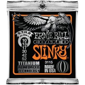 Ernie Ball 3115 Coated Titanium RPS Skinny Top Heavy Bottom Slinky Electric 10-52-0