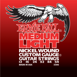 Ernie Ball 2206 Medium-Light Nickel w/Wound G 12-54-0