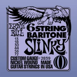 Ernie Ball 2839 Baritone Slinky Electric 13-72-0