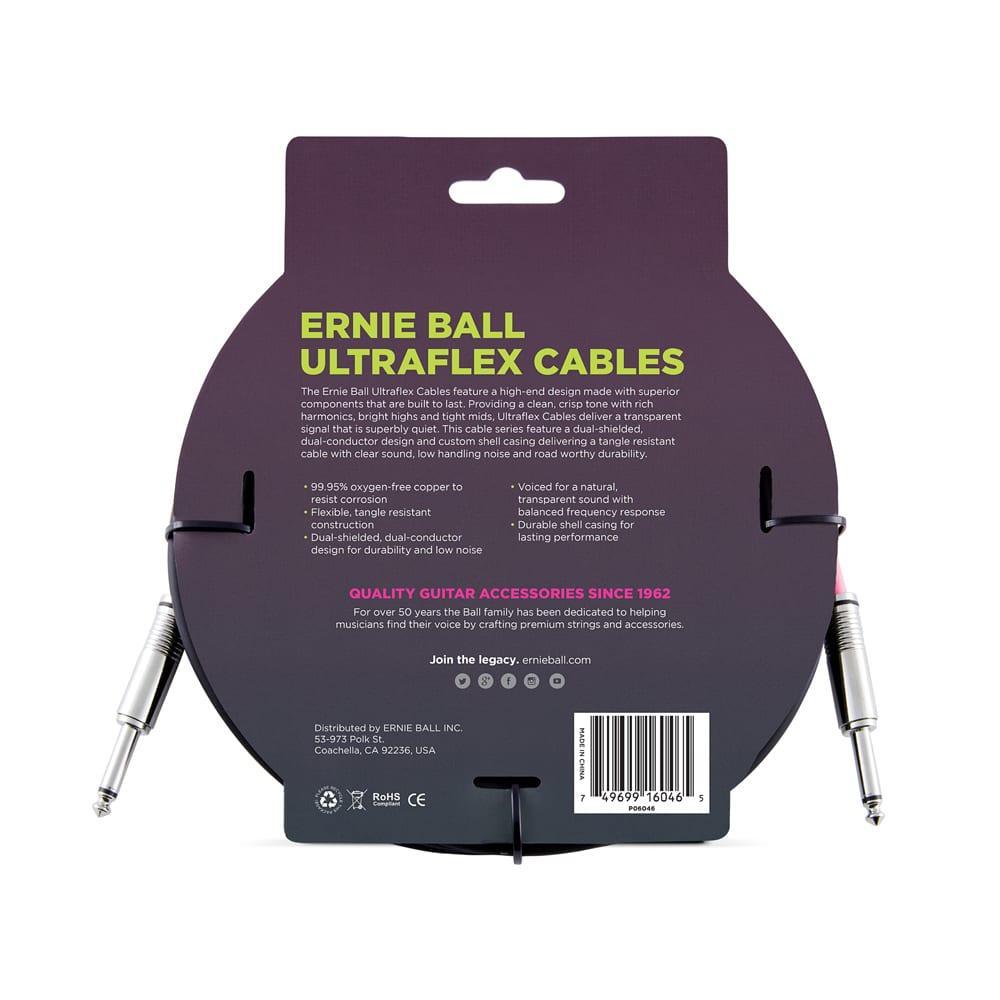 כבל Ernie Ball ישר/ישר (6 מ')-11051