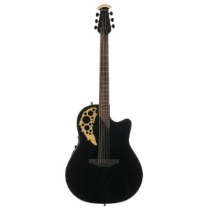 Ovation Elite TX Mid Depth Black/Spalted Maple-0