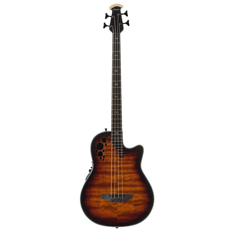 Ovation Elite Mid Depth 4-String Bass Sapele Tobacco Burst-0