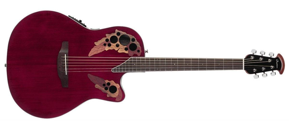 Ovation Celebrity Elite Super Shallow Ruby Red-14879