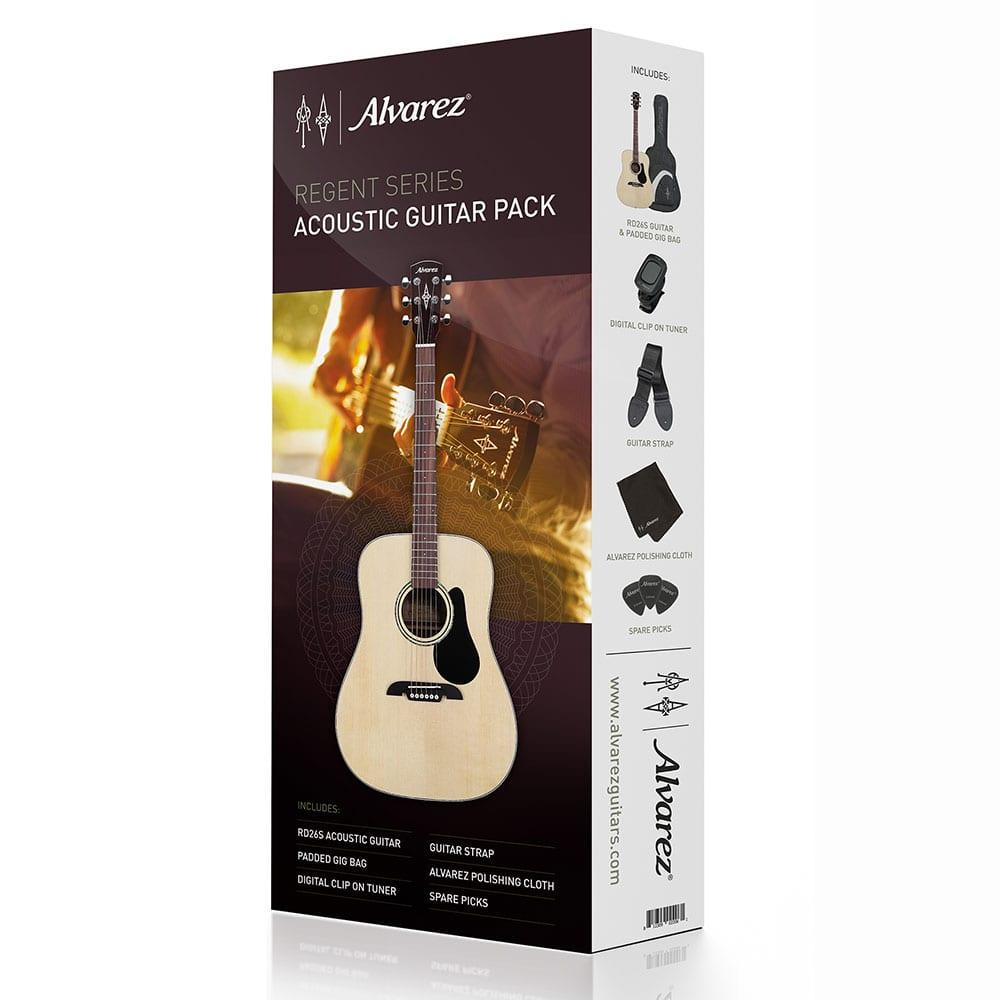 חבילת גיטרה אקוסטית למתחילים Alvarez RD26S-0