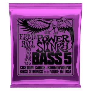 Ernie Ball 2821 Power Slinky Nickel Wound 5-String Bass 50-135-0