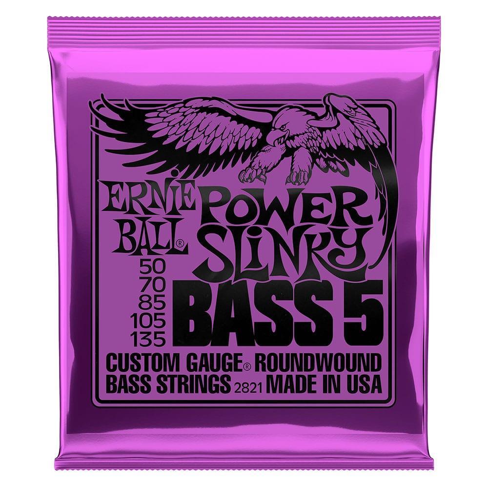 Ernie Ball 2821 Power Slinky Nickel Wound 5-String Bass 50-135-0
