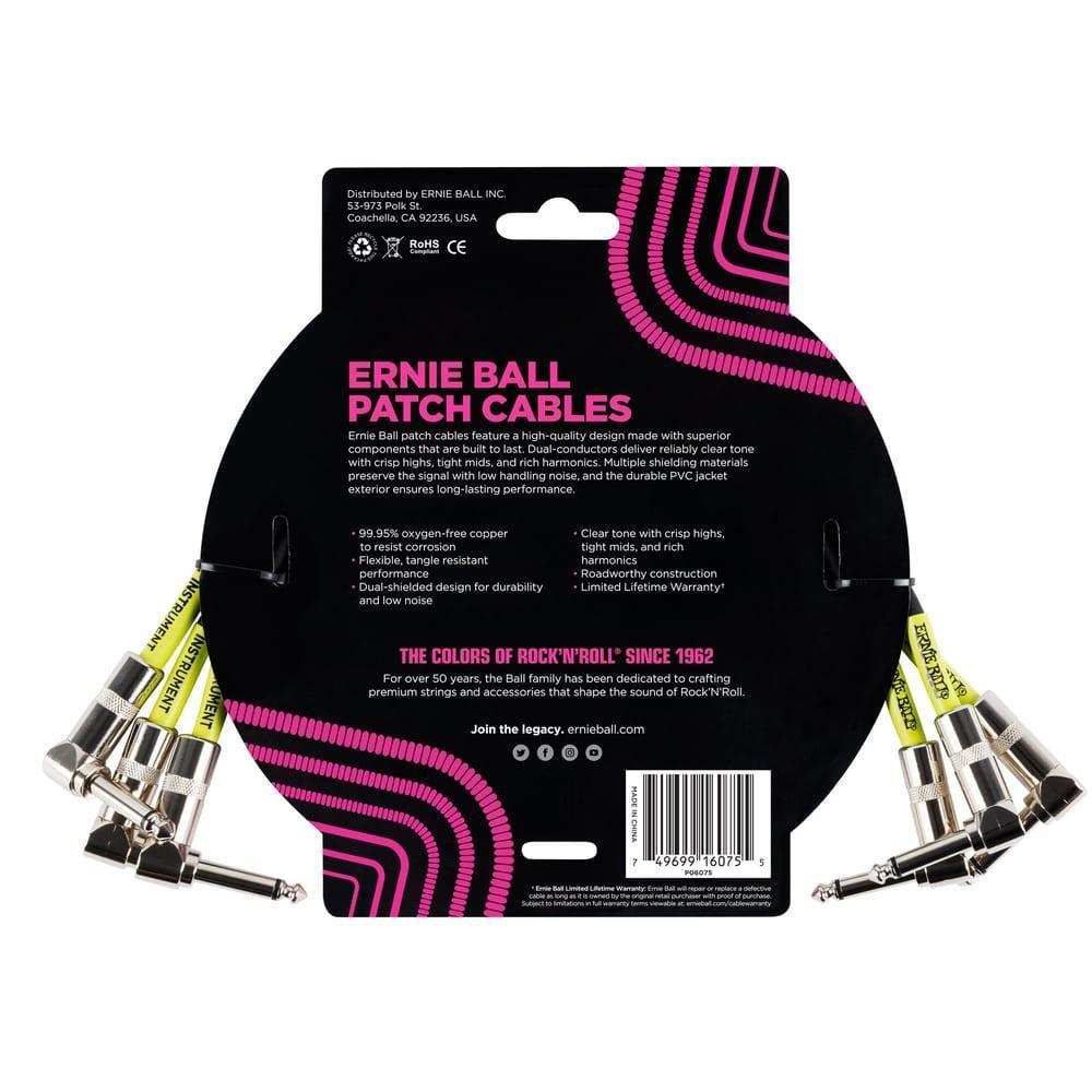 שלישיית כבלים Ernie Ball פאץ' 30cm   שחור-17690