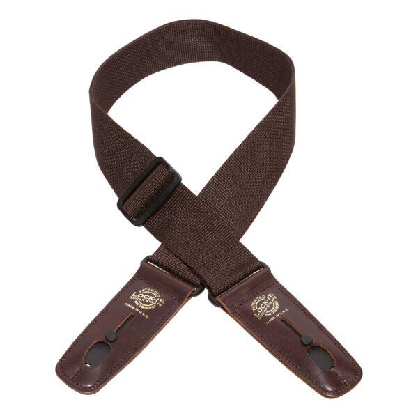 """רצועה ננעלת לגיטרה Lock-It Poly Pro 2"""" Brown"""