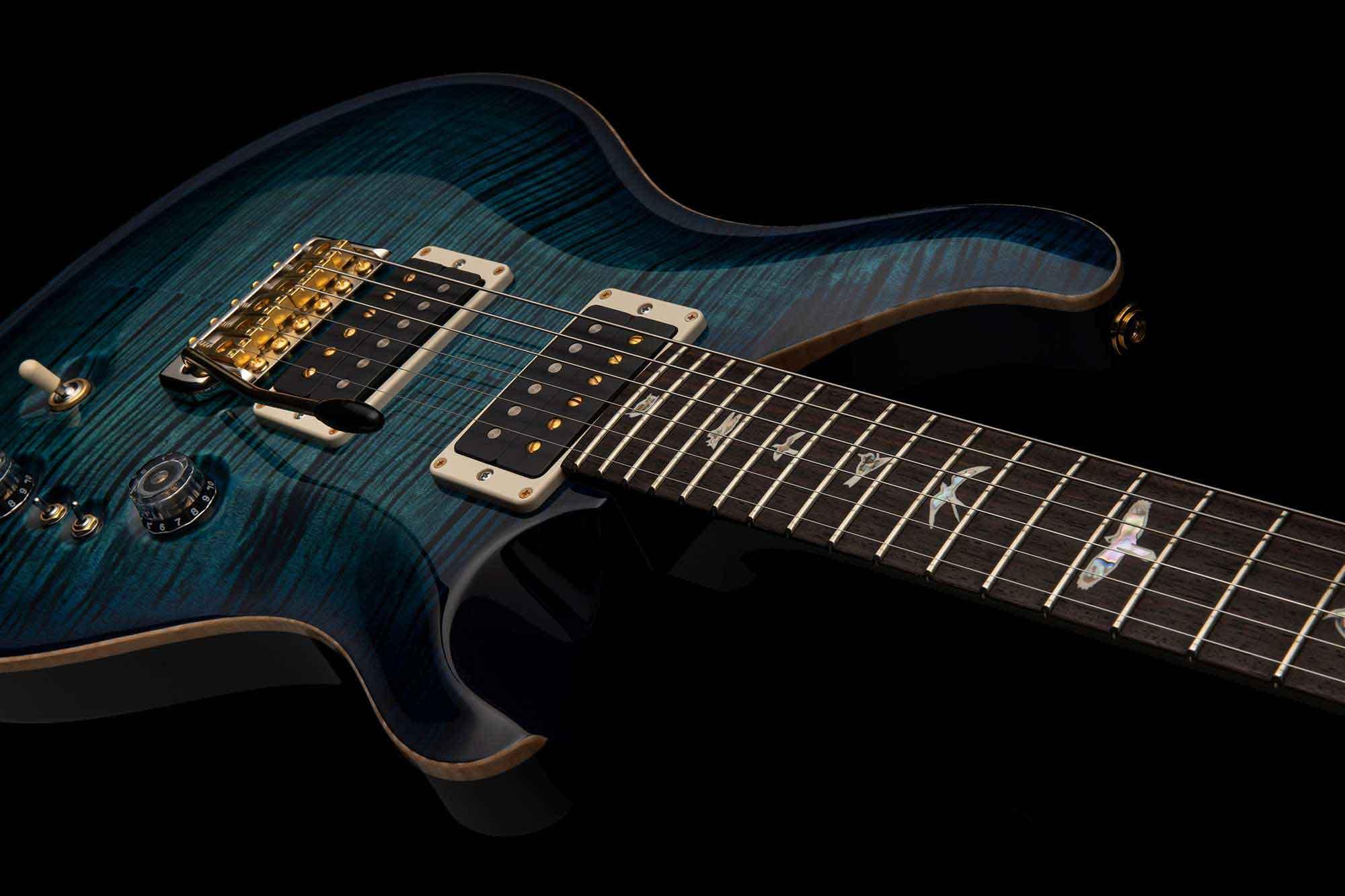 גיטרה חשמלית PRS USA Custom 24-08 צבע Cobalt Blue