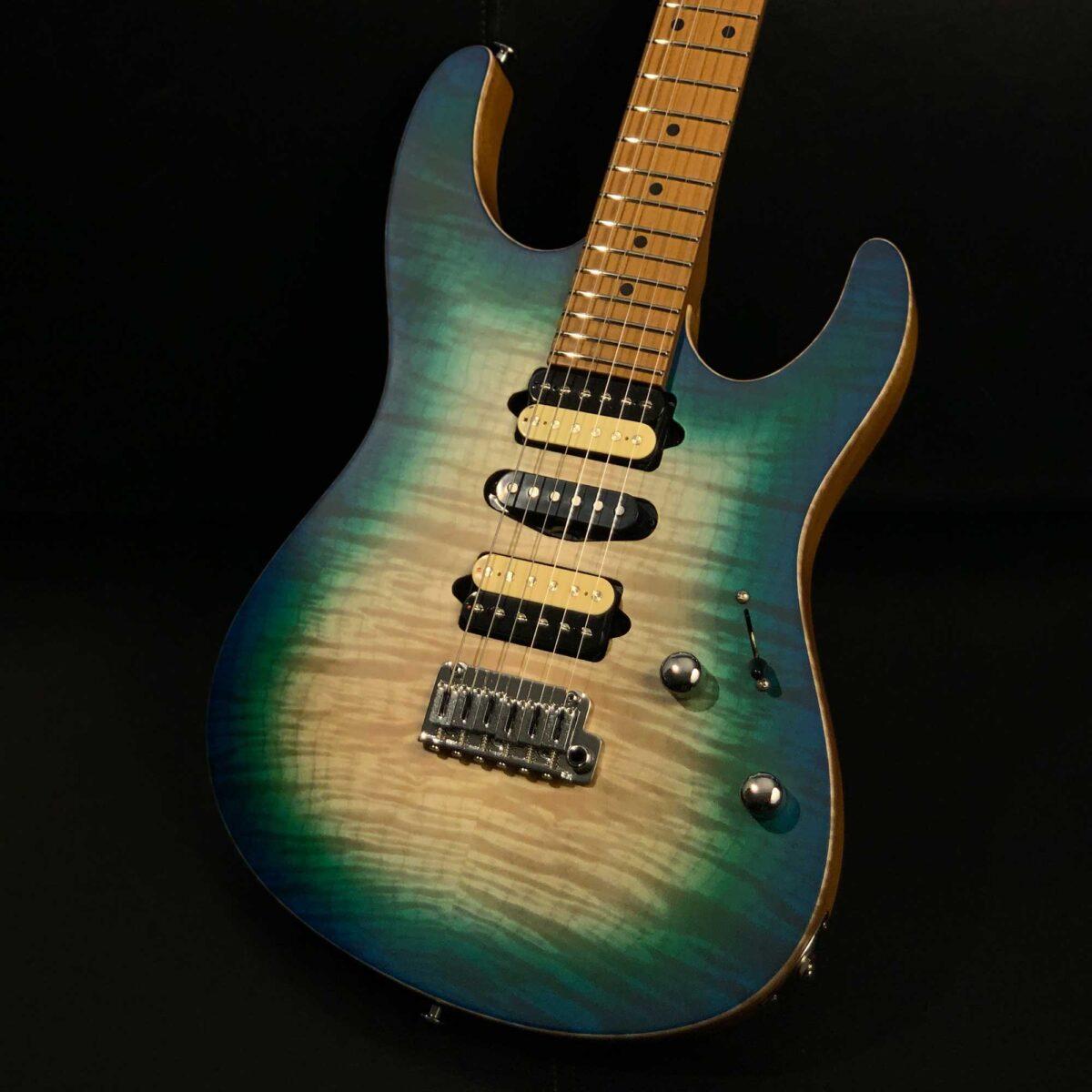 גיטרה חשמלית Suhr Modern Satin Flame Limited Edition 2020, Island Burst