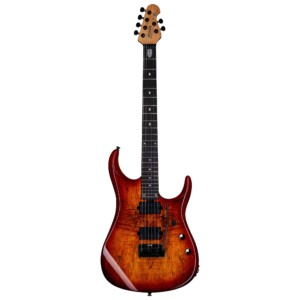 גיטרה חשמלית Sterling by Music Man JP150SM צבע Blood Orange Burst