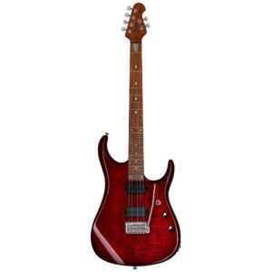 גיטרה חשמלית Sterling by Music Man JP150FM צבע Royal Red Flame