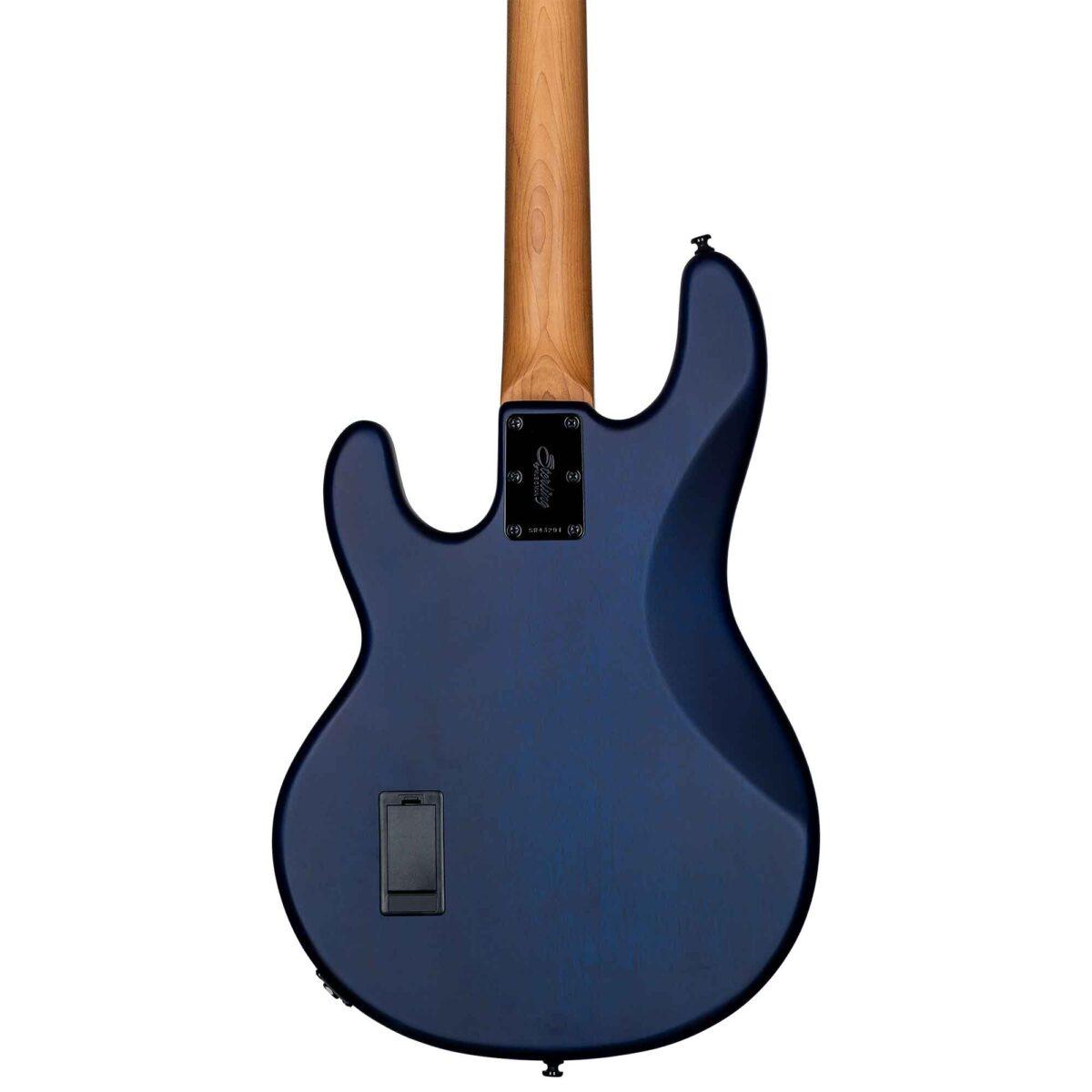 גיטרה בס Sterling by Music Man Ray34 Poplar Burl צבע Neptune Blue Satin