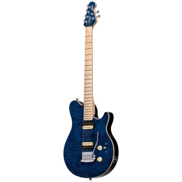 גיטרה חשמלית Sterling by Music Man S.U.B. Axis AX3FM צבע Neptune Blue