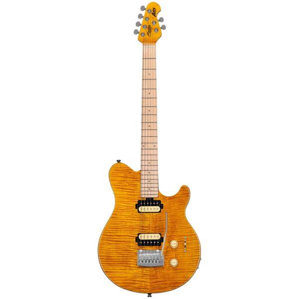 גיטרה חשמלית Sterling by Music Man S.U.B. Axis AX3FM צבע Trans Gold