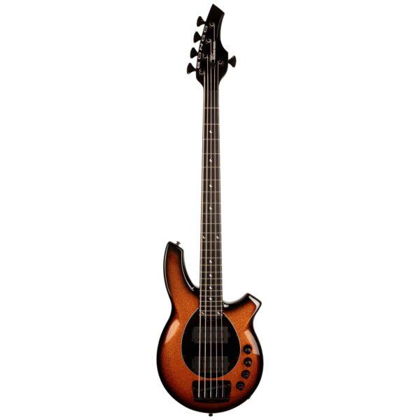 גיטרה בס Music Man Bongo 5 HH בצבע Harvest Orange