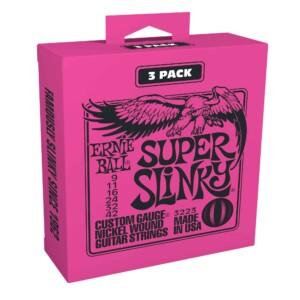 3 סטים מיתרים לגיטרה חשמלית Ernie Ball 3223 Super Slinky Electric 9-42 3-Pack