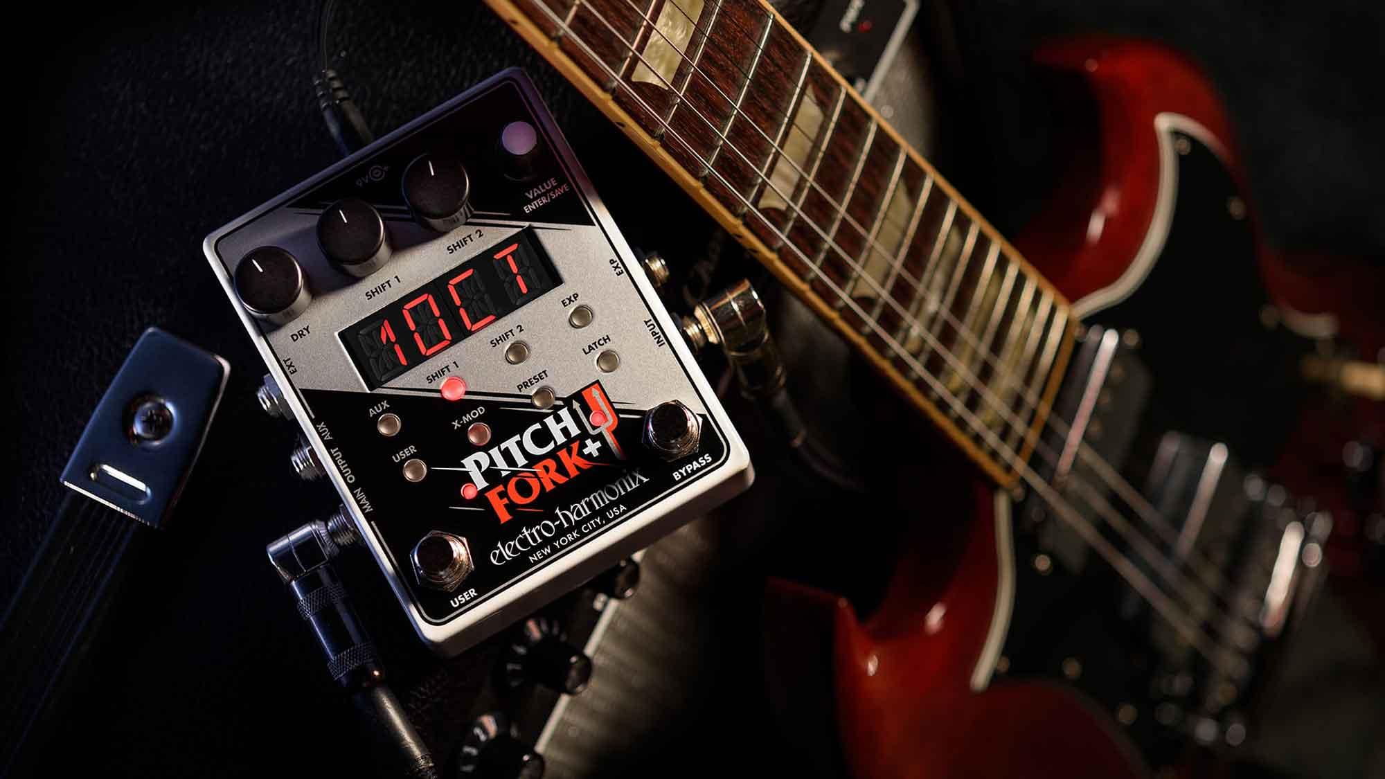פדאל פיצ' שיפטר לגיטרה +Electro-Harmonix Pitch Fork