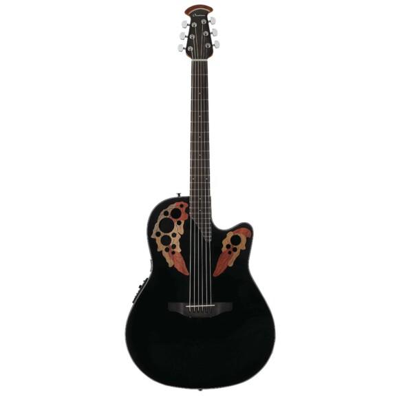 גיטרה אקוסטית מוגברת Ovation Celebrity Elite Mid Depth, Black