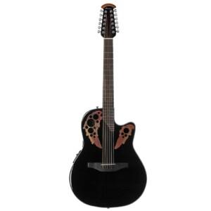 גיטרה אקוסטית מוגברת Ovation Celebrity Elite 12-String Mid Depth, Black