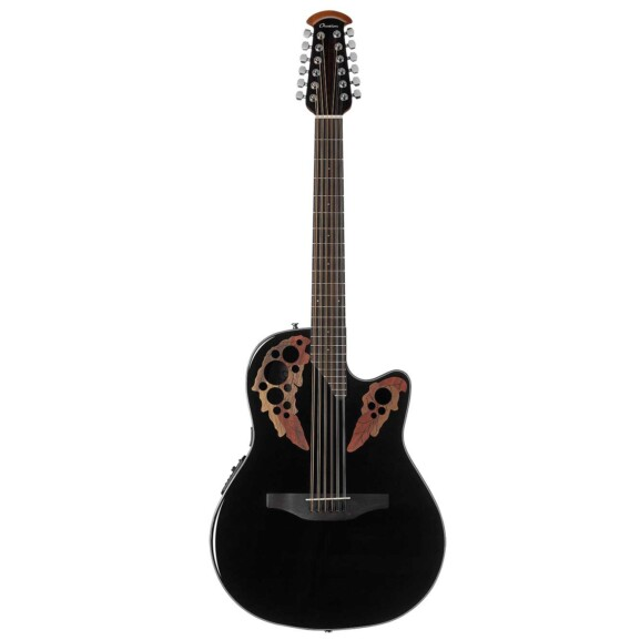 גיטרה אקוסטית מוגברת Ovation Celebrity Elite 12-String Mid Depth, Black