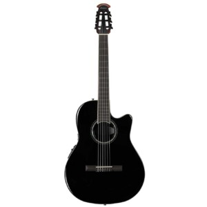 גיטרה קלאסית מוגברת Ovation Celebrity Standard Nylon Super Shallow, Black