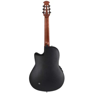 גיטרה קלאסית מוגברת Ovation Celebrity Standard Nylon Super Shallow, Black