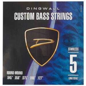 סט מיתרים לגיטרה בס Dingwall Long Scale 5-String Stainless Steel 45-127