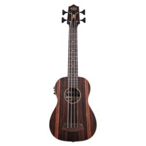 יוקולילי בס מוגברת עם מיתרי מתכת Kala U-Bass Striped Ebony w/Round Wound Strings