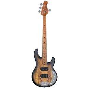 גיטרה בס Sterling by Music Man Ray34HH Spalted Maple, Natural Burst Satin