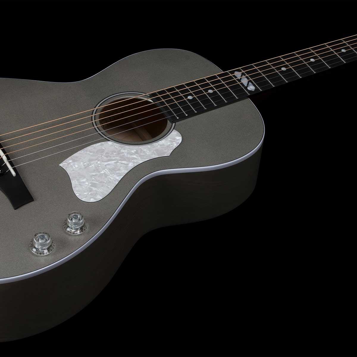 גיטרה אקוסטית מוגברת Godin Rialto JR Satina Gray HG Q-Discrete