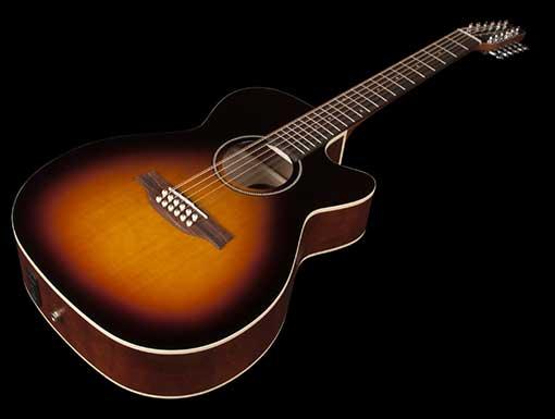 גיטרה אקוסטית 12 מיתרים Seagull S12 Concert Hall CW Spruce Sunburst GT QIT