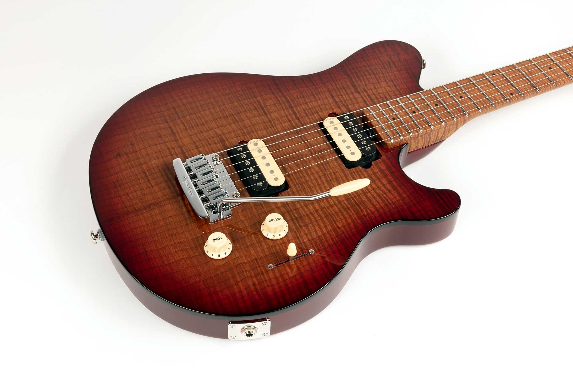 גיטרה חשמלית Music Man Axis Super Sport, Amber Flame