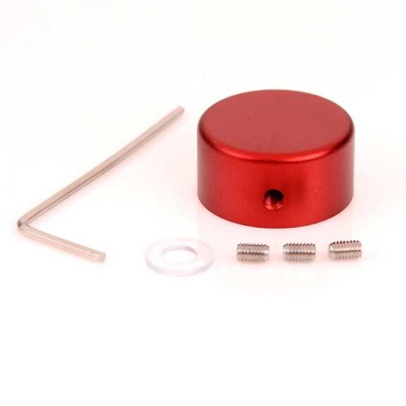 כפתור דריכה מאלומיניום לפדאלים - אדום