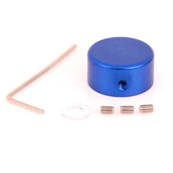 כפתור דריכה מאלומיניום לפדאלים - כחול