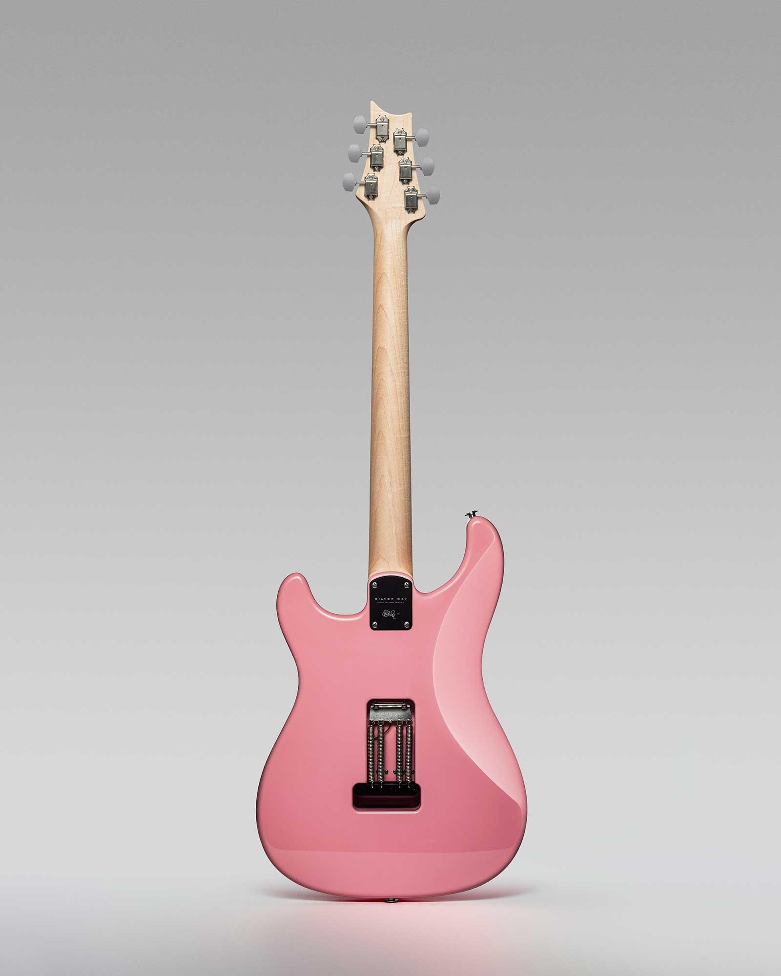 גיטרה חשמלית PRS USA Silver Sky, Roxy Pink, Rosewood