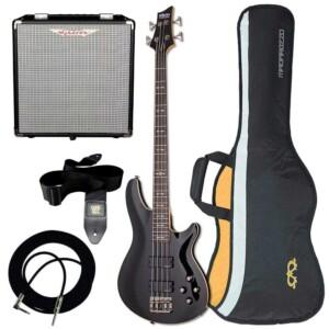 חבילה גיטרה בס ומגבר Schecter Omen-4