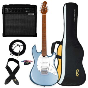חבילה גיטרה חשמלית ומגבר Sterling by Music Man Cutlass CT50HSS