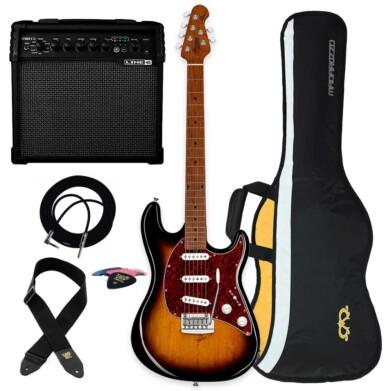 חבילה גיטרה חשמלית ומגבר Sterling by Music Man Cutlass CT50SSS